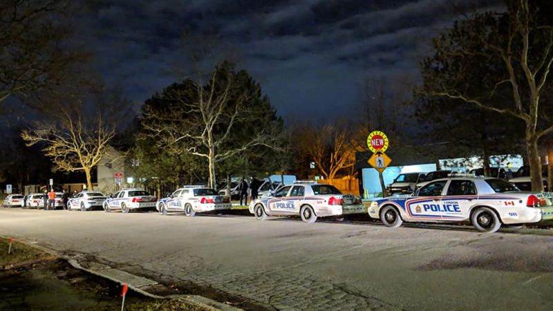 Police investigate after a fatal stabbing on Notre Dame Drive in London, Ont. on Sunday, Jan. 6, 2019. (Tammy Heisel / CTV London)