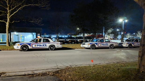 Police investigate after a fatal stabbing on Notre Dame Drive in London, Ont. on Sunday, Jan. 6, 2019. (Morgan Baker / CTV London)