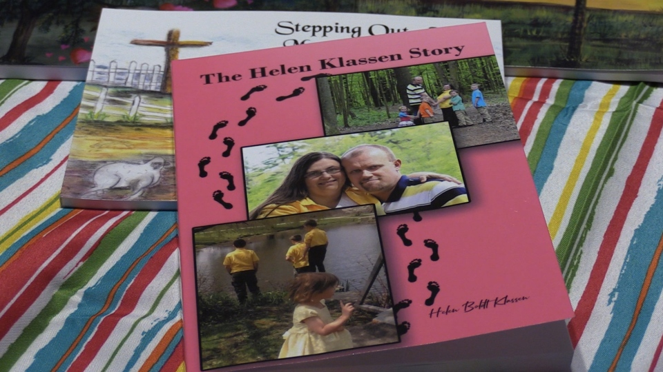 Helen Klassen's latest book shares her stories and personal thoughts. (Celine Moreau / CTV London)