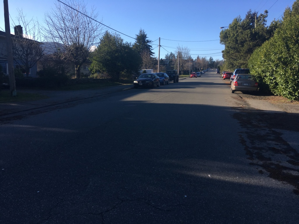 Nelson Street in Nanaimo, where a fatal crash claimed the life of an eight-year-old boy, is shown. Jan. 7, 2019. (CTV Vancouver Island)