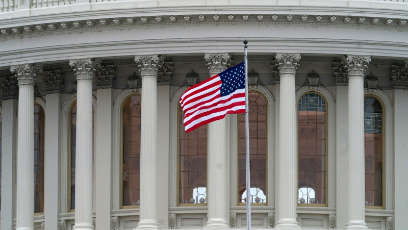 The Capitol is seen as the partial government shutdown lurches into a third week with President Donald Trump standing firm in his border wall funding demands, in Washington, Monday, Jan. 7, 2019. (AP Photo/J. Scott Applewhite)