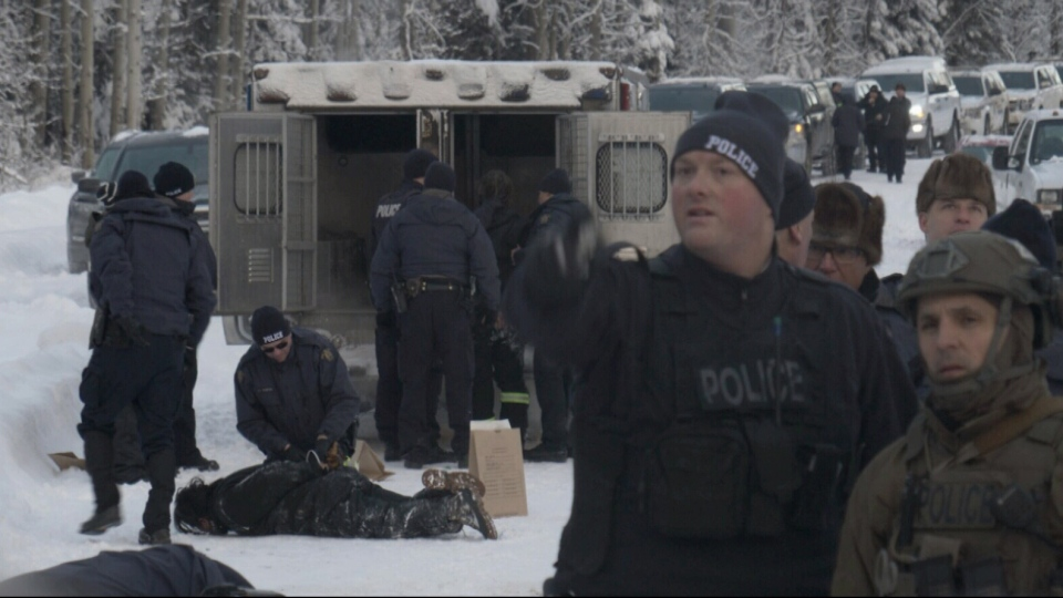 RCMP arrest 14 people taking part in anti-LNG pipeline
