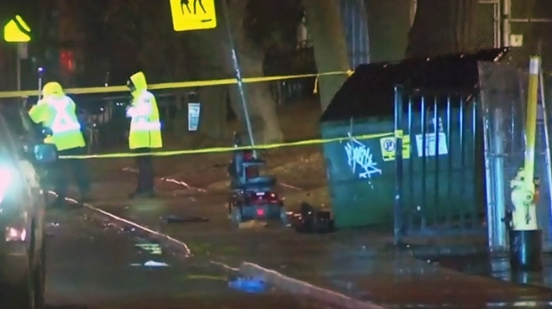 Crash involving scooter in Parkdale