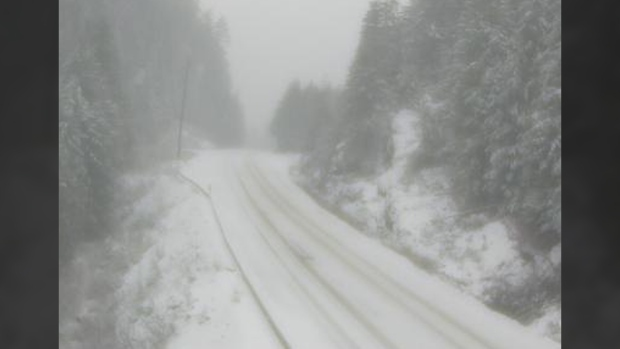 Snowfall warning ended for Malahat Highway, remains in