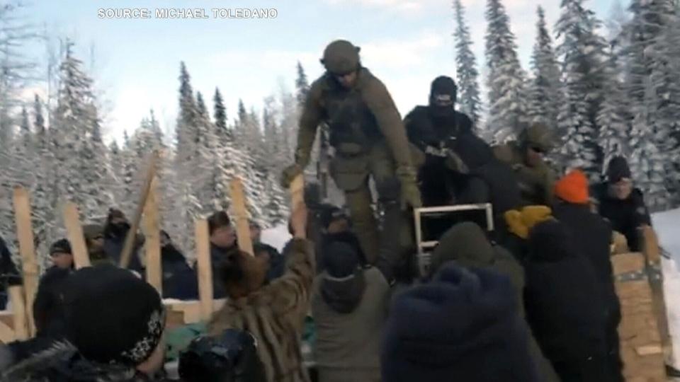 Pipeline protest in Wet'suwet'en territory
