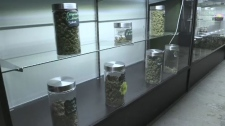 Retail cannabis display
