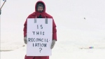 Pipeline protesters gather at RCMP barracks