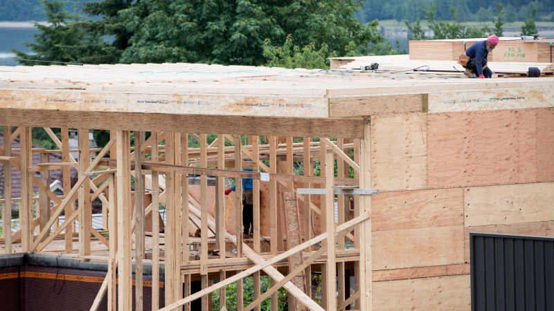 A new home under construction in North Vancouver, B.C., Tuesday, June 12, 2018. THE CANADIAN PRESS Jonathan Hayward