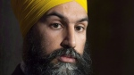 NDP Leader Jagmeet Singh speaks with the media following caucus on Parliament Hill in Ottawa, Wednesday November 28, 2018. Jagmeet Singh is preparing for his biggest political fight, trying to secure a desperately-needed seat in Parliament so he can have access to the political theatre of question period rather than watching from the sidelines. THE CANADIAN PRESS/Adrian Wyld