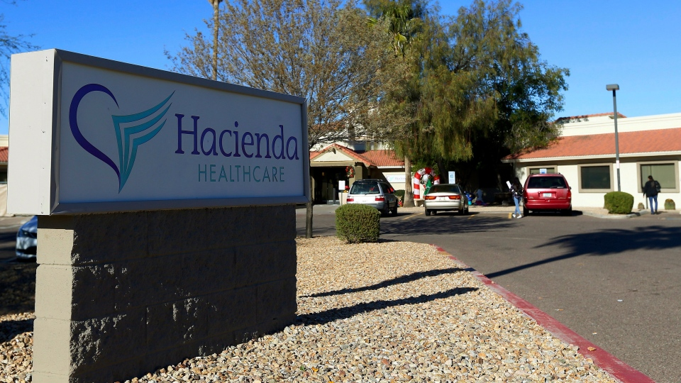 This Friday, Jan. 4, 2019, photo shows Hacienda HealthCare in Phoenix. (AP Photo/Ross D. Franklin)