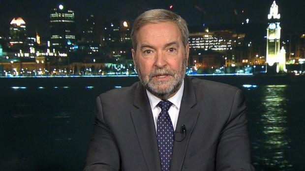 Former NDP Leader Tom Mulcair on CTV.