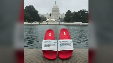 Presidential flip flops: Trump sandals for sale