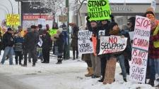 Protesters in Kamloops, B.C.
