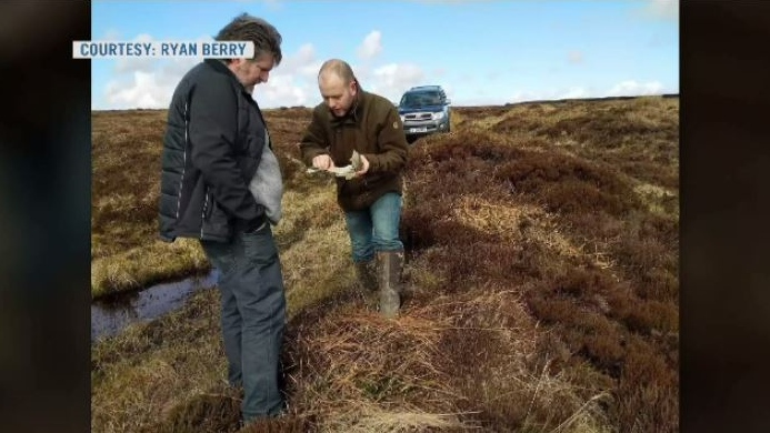 While visiting the site of a plane crash that killed a relative in the Second World War, Kevin and Ryan Berry found a piece of the wreckage.