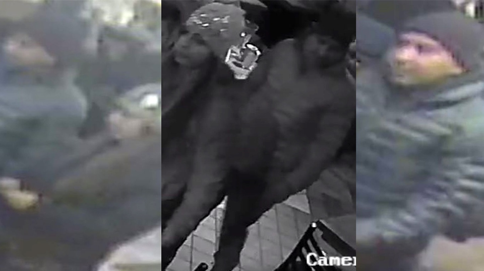 Toronto police are searching for two suspects in connection with a theft investigation in the city's Bloor-Annex neighbourhood. (Toronto police handout)