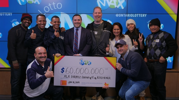 9 Ont. co-workers quit jobs after winning $60M jackpot