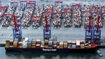 The container ship Yantian Express is shown in a handout photo from Hapag-Lloyd. (THE CANADIAN PRESS/HO-Hapag-Lloyd)