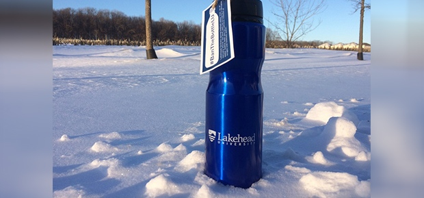 Lakehead University water bottle