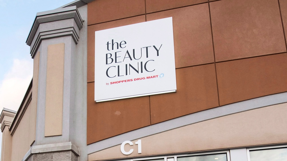 A sign for the Beauty Clinic by Shoppers Drug Mart is seen in Oakville, Ont., on Wednesday, January 9, 2019. THE CANADIAN PRESS/Nathan Denette