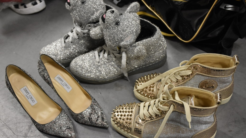 Designer brand shoes recovered by Mounties in Richmond are seen in this provided photo.