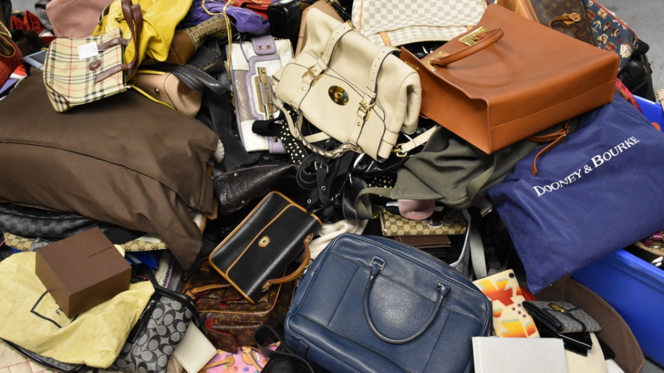 High-end handbags recovered by Mounties in Richmond are seen in this provided photo.