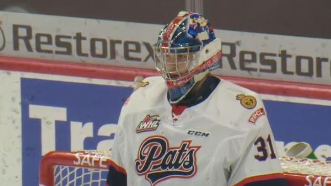 Dean McNabb is having an outstanding season in goal for the Regina Pats. (CTV Regina)