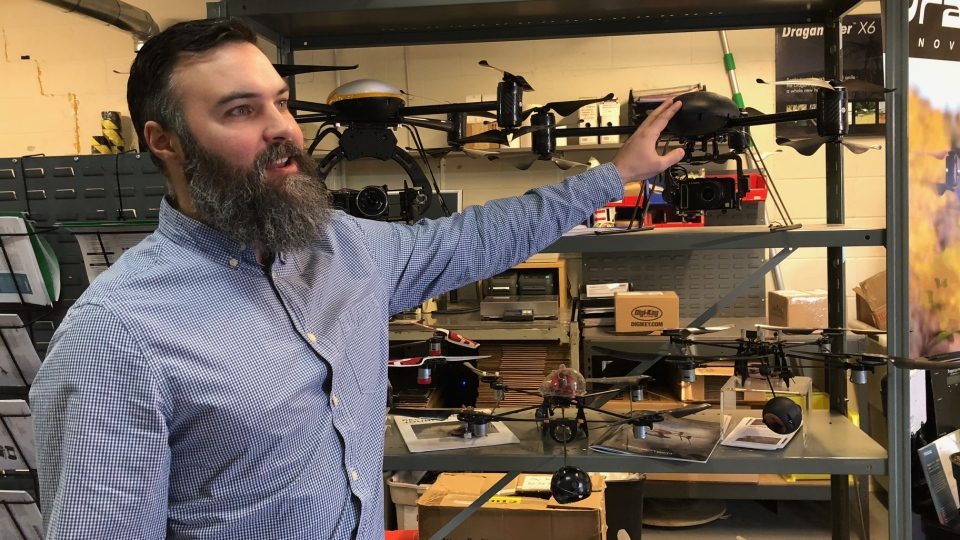 Andrew Carson with Draganfly Innovations says the new drone rules help expedite the certification process for the non-commercial users. (Francois Biber/CTV Saskatoon)