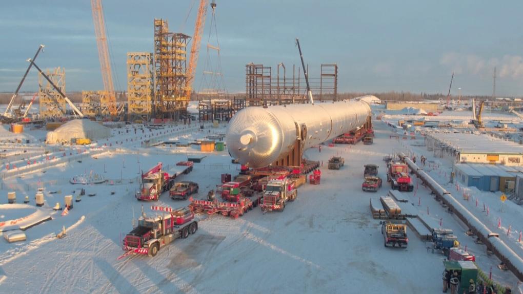 Alberta heavyweight: Massive piece of equipment reaches destination