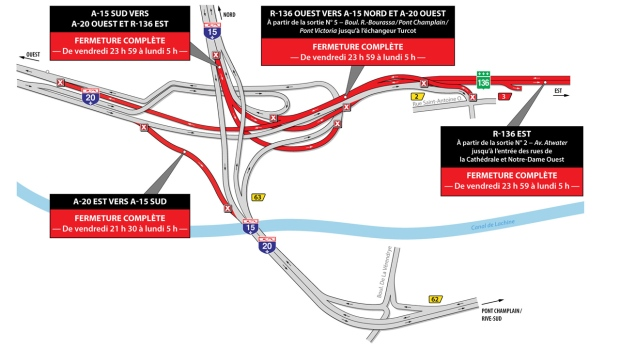Turcot closures for January 11