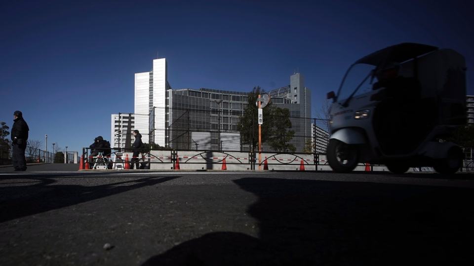 Tokyo Detention Centre, where former Nissan chairman Carlos Ghosn is detained, is seen in Tokyo Friday, Jan. 11, 2019. Ghosn has recovered from a fever, his lawyer Motonari Ohtsuru said Friday as the 64-year-old executive's latest detention period was set to expire.(AP Photo/Eugene Hoshiko)
