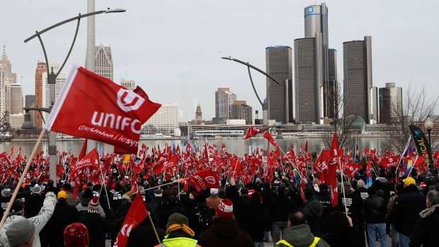 Unifor protest