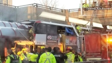 Serious bus crash on the OC Transpo Transit Way