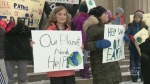 Students at two Winnipeg schools went on strike Fr