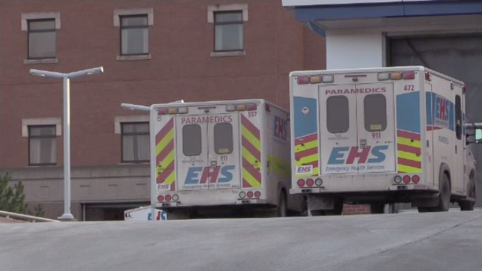 On an average day, EHS responds to 530 calls throughout the province. Two days ago, there were 603.