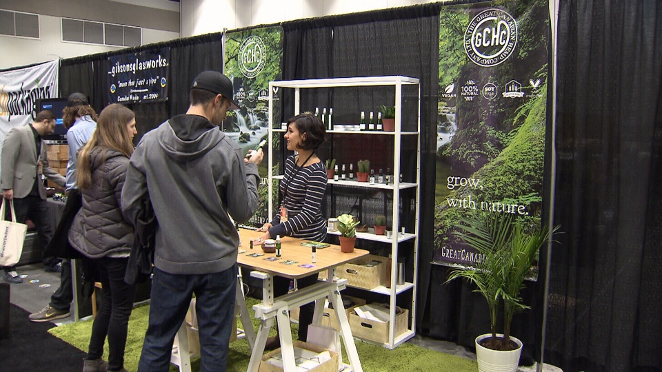 Visitors is seen at the Vancouver LCBC and Expo 2019.