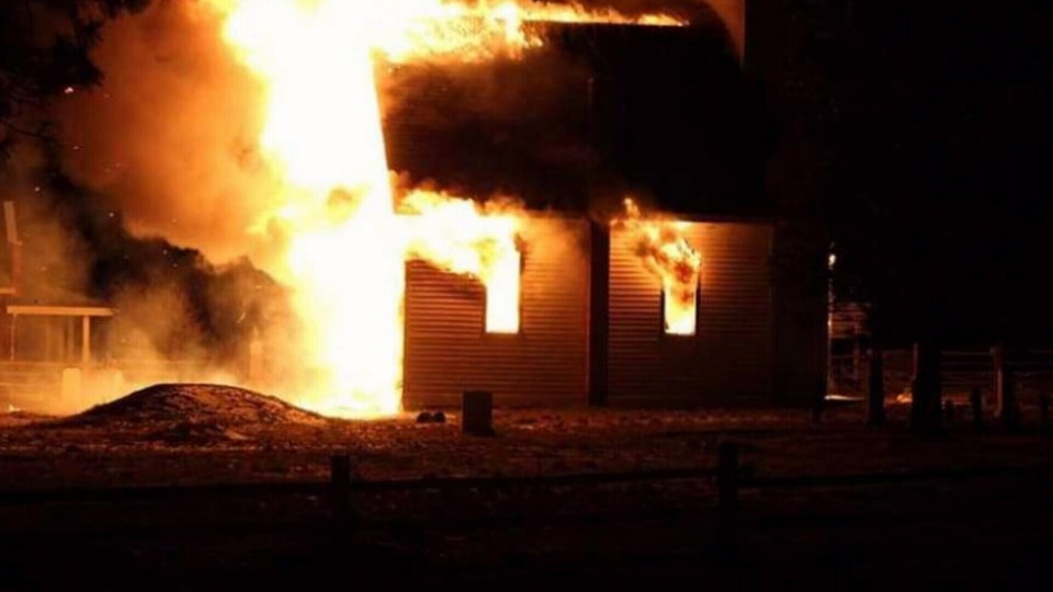 Merritt RCMP are investigating a rash of suspicious fires targeting churches. Courtesy: The Merritt Grapevine
