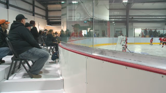 Members of the community taking in some hockey action at the new Perdue arena on Saturday, January 12, 2019.