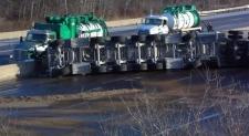 Highway 401, fuel, spill,