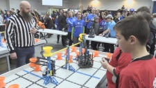 Elementary students in Sault Ste. Marie compete in the country's largest robotics qualifier competition. Lincoln Louttit reports.