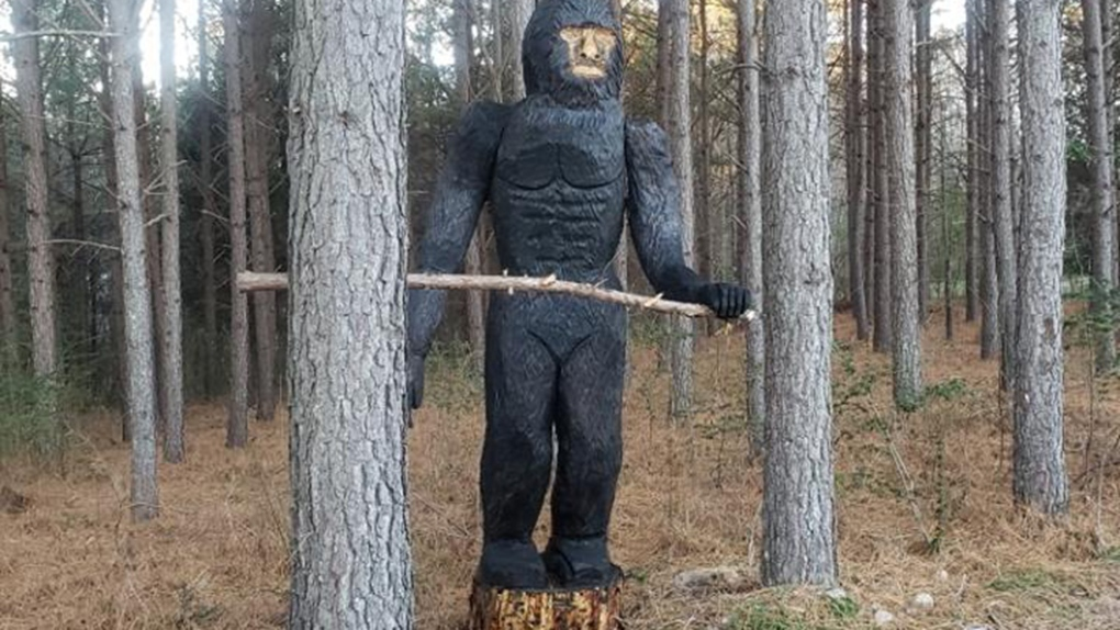 Don't call 911 over Bigfoot statue, animal shelter urges