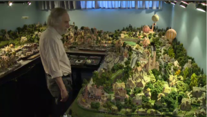 The landscape is supposed to be a slice of 1901 England - complete with three villages connected by two trains – based partly on real homes overseas. It represents 30 years of meticulous work by Joseph Swift, a Griffintown resident. (CTV Montreal)