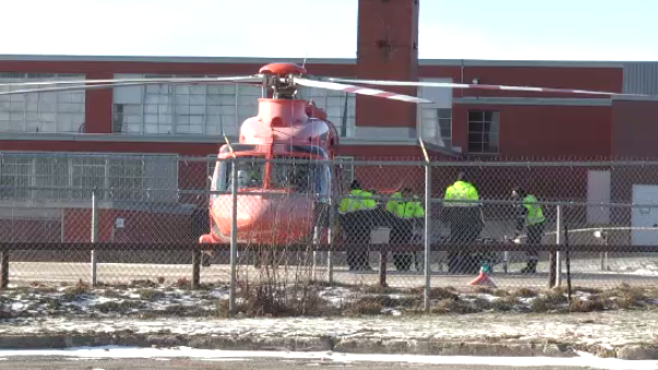 toddler airlifted to hospital after being struck by a vehicle