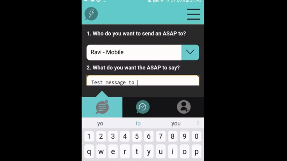 A screenshot of the ReplyASAP app in use on an Android device. (Nick Herbert)