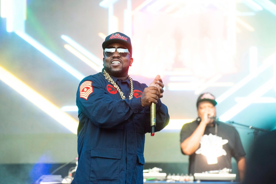 Big Boi performs on stage at ONE Musicfest on Sunday, Sept. 9, 2018, in Atlanta. (Photo by Paul R. Giunta/Invision/AP)