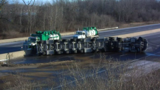 cambridge 401 highway tanker crash