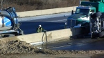 401 closes due to crash, fuel spill