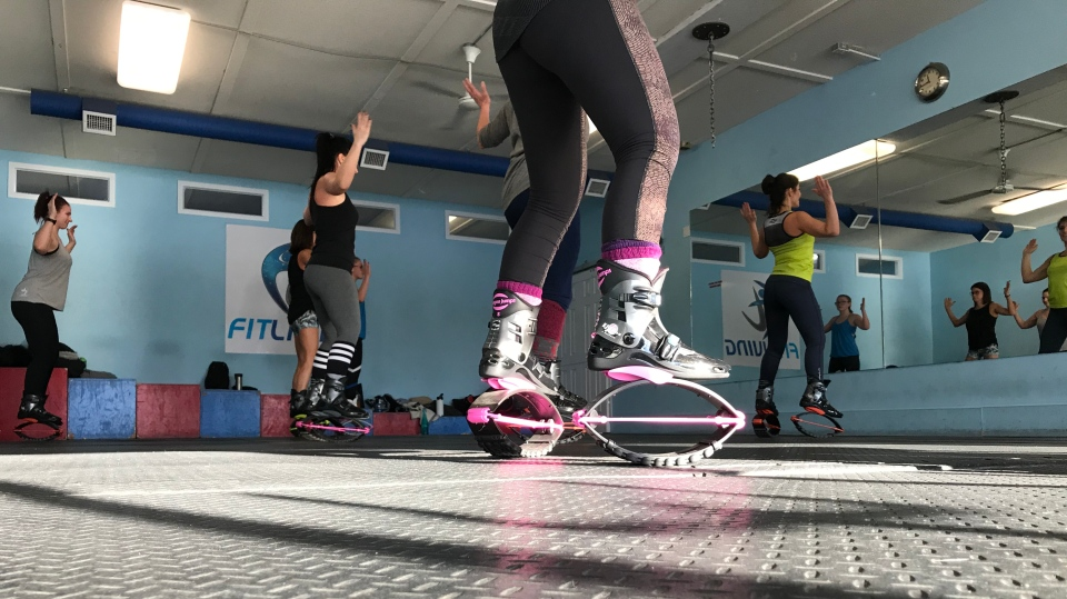 Participants taking in a class with Kangoo Club Queen City.