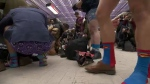 The annual No Pants Subway Ride