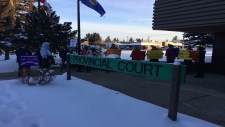 Rally at Evansburg Provincial Court