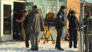 A Montreal elementary school was evacuated Monday morning after a carbon monoxide leak that sent 13 children and one adult to hospital.